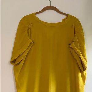 Mustard Drop-sleeve Dress